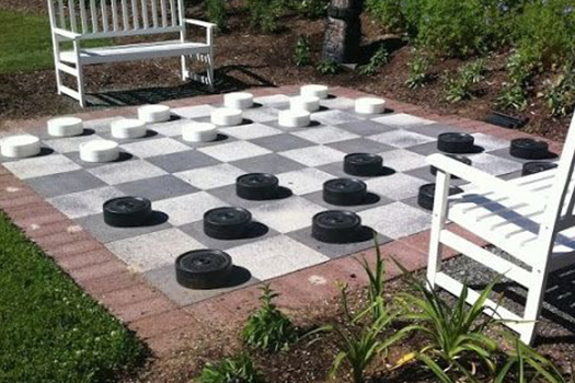 Patio Checkers Clarity Street
